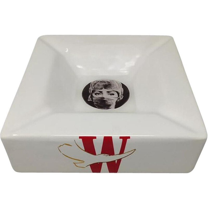 Vintage Fornasetti Porcelain Ashtray Empty Pocket by Piero Fornasetti for Winston 1970s