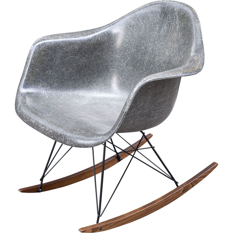 Vintage Rocking chair Elephant Grey de Charles & Ray Eames 1970s