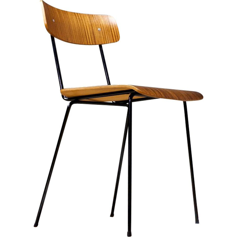 Vintage Andre Cordemeyer Chair in Brown Plywood 1959s