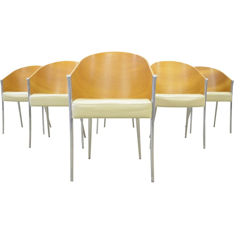 6 Vintage Aleph 'King Costes' dining chairs by Philippe Starck