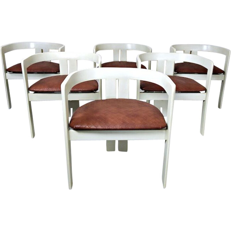 Set of 6 vintage 'Pigreco' Chairs by Tobia Scarpa