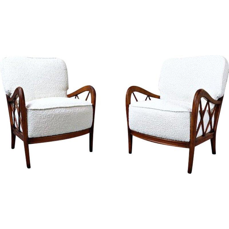 Pair Of vintage Armchairs attributed to Paolo Buffa