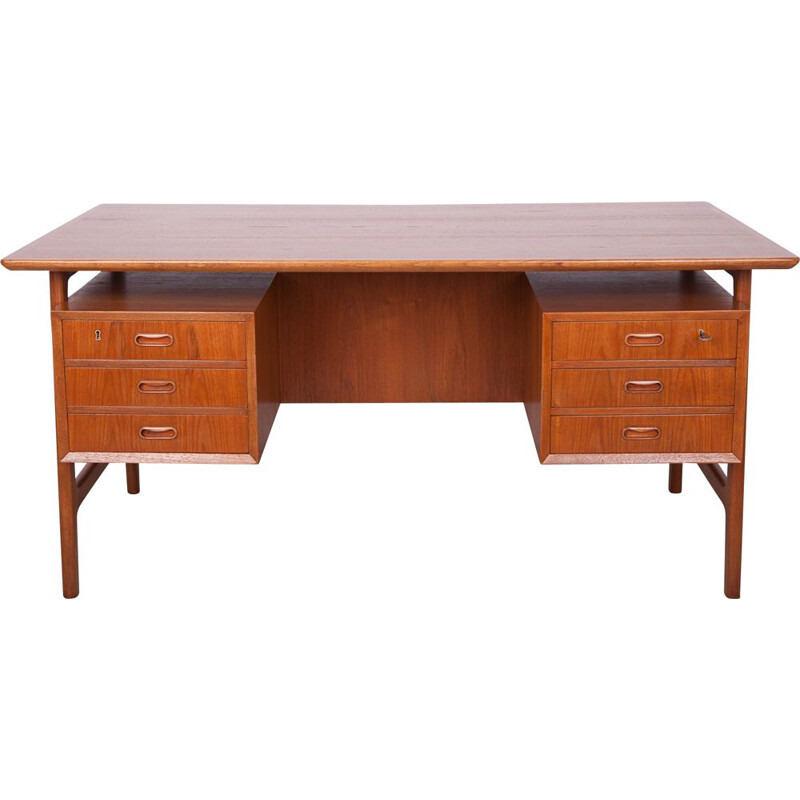 Vintage teak desk by Arne Vodder 1960