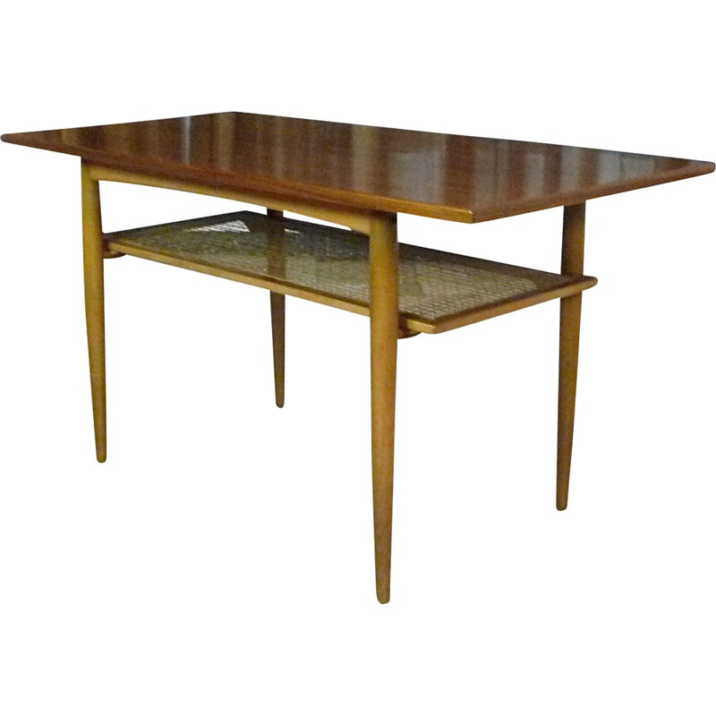 Mid-century coffee table in wood, Wilhelm KNOLL - 1960s