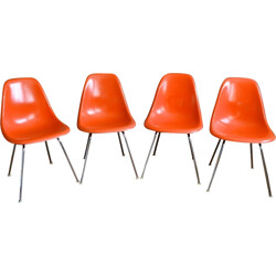 "Set of 4 Herman Miller ""DSX"" chairs, Charles & Ray EAMES - 1960s"
