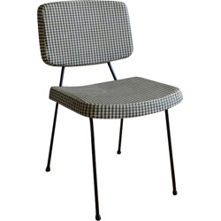 """Thonet """"CM196"""" chair with checked pattern, Pierre PAULIN - 1960s"""