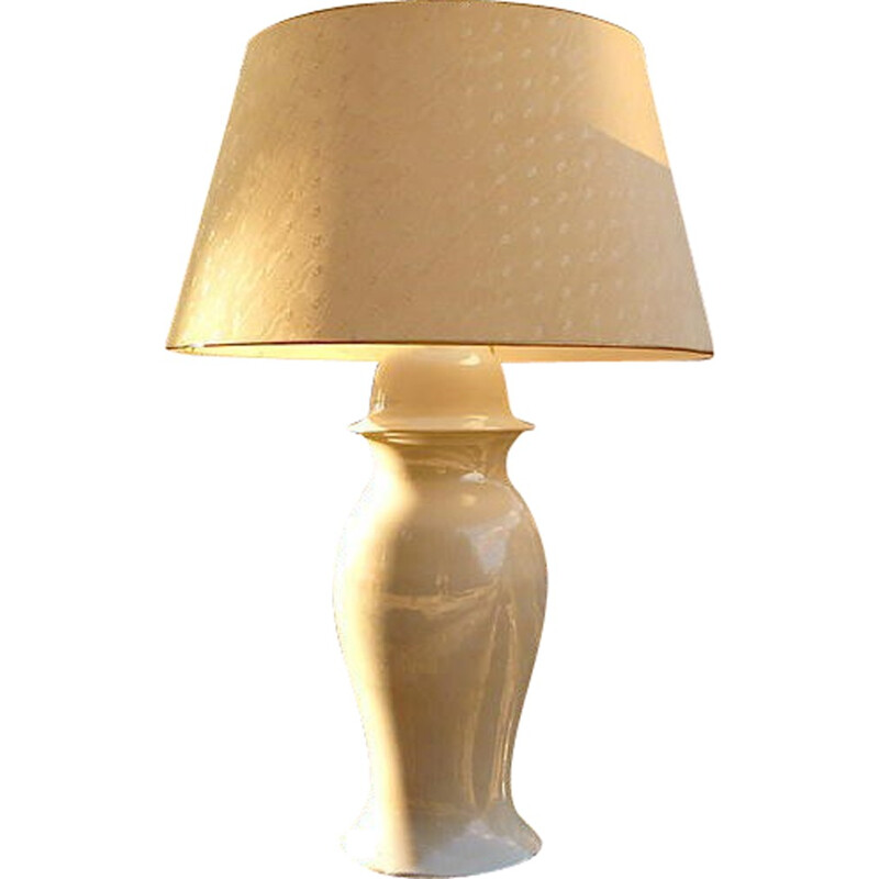 Large ceramic table lamp, Tommaso BARBI - 1960s