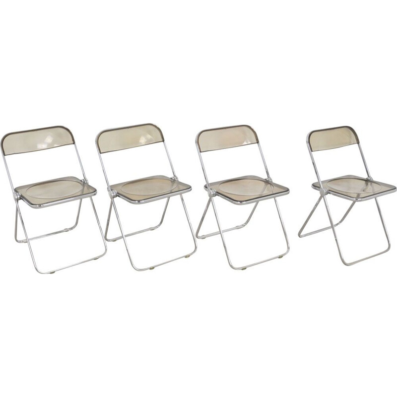 Set of 4 vintage Plona Chair by Giancarlo Piretti for Castelli 1970s