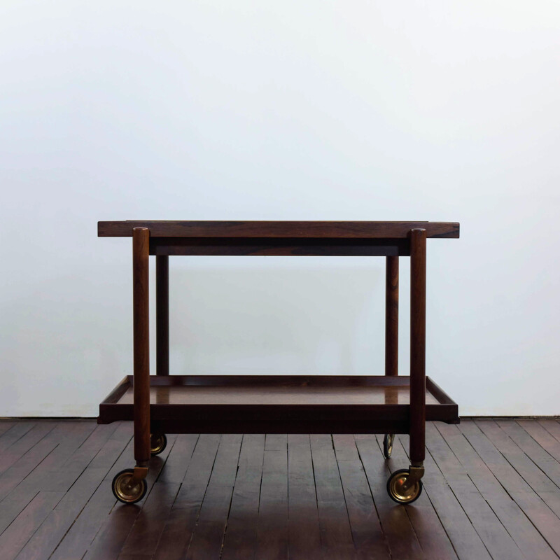 Vintage Serving table in rosewood by Poul Hundevad 1960