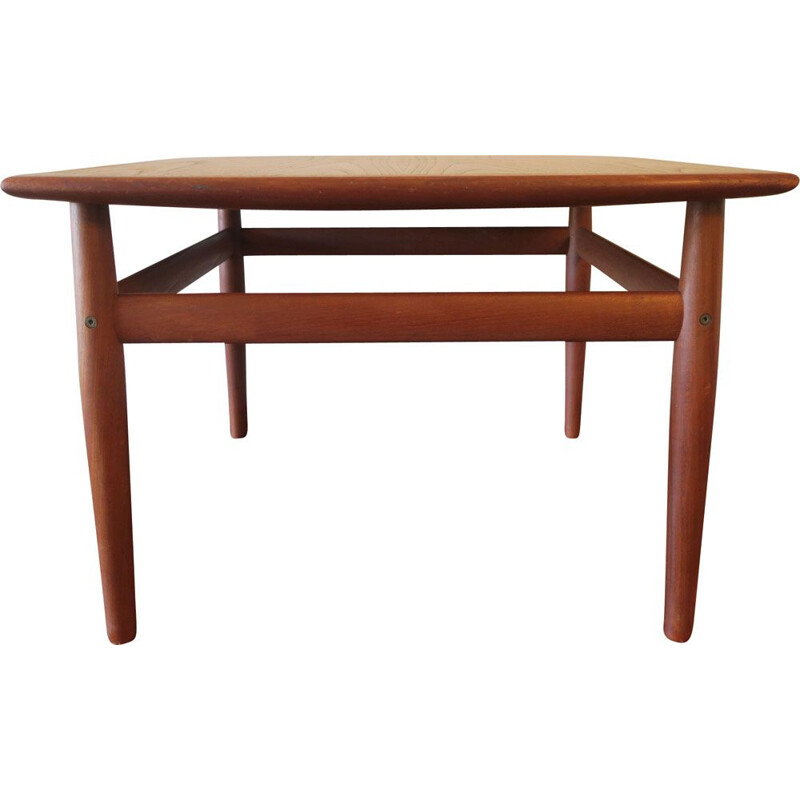 Vintage square coffee table Grete Jalk Denmark 1960s