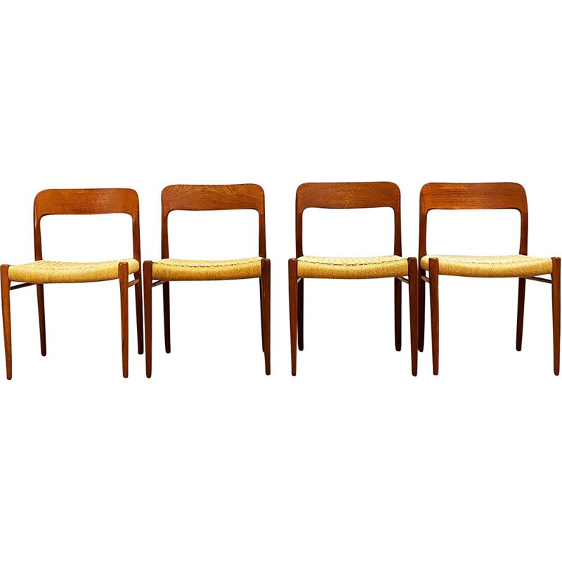Set of 4 Mid Century Teak Chairs by Niels Otto Moller for J.L. Mollers Danish 1960s