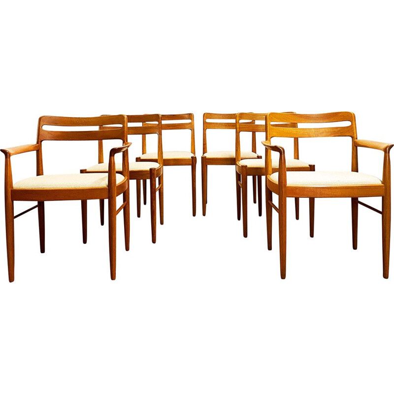 Set of 6 vintage Teak Chairs by H.W. Klein for Bramin Denmark 1960s