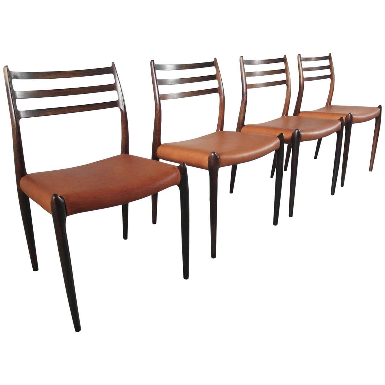 Set Of 4 J L M 248 Ller Quot Model 78 Quot Chairs In Rosewood And