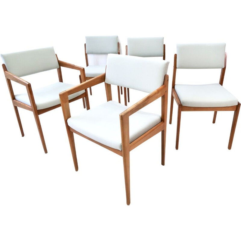 Set of 5 Dining Chairs by Thonet 1960s