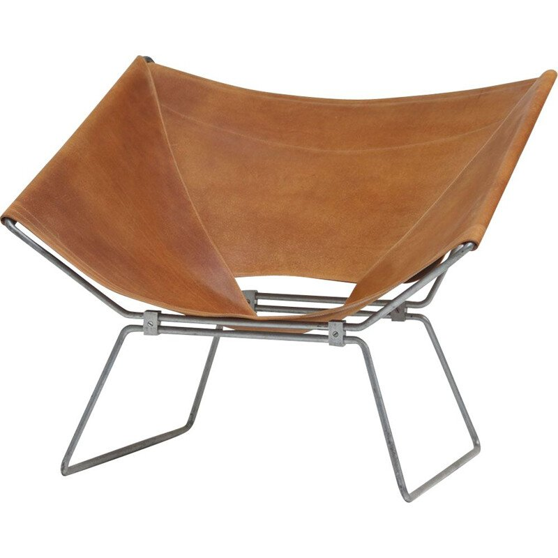 Vintage Pierre Paulin Leather Annau Chair 1954s