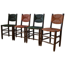 Set of 4 chairs, Charlotte PERRIAND - 60