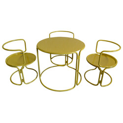 Table and chairs, Gae AULENTI - 60