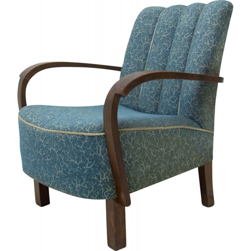 Vintage Bentwood armchair by Jindřich Halabala for UP Závody 1930s