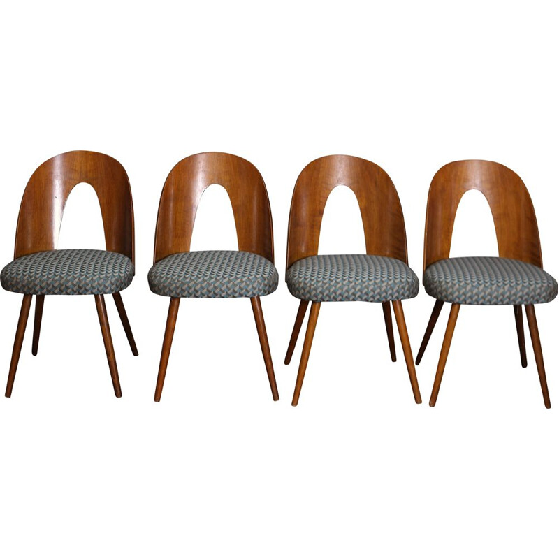 Set of 4 vintage dinning chairs by Antonin Suman Czechoslovakia 1960s
