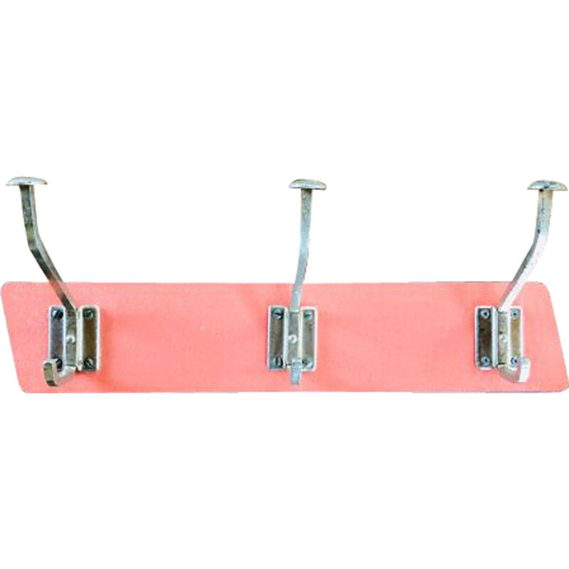 Vintage wall-mounted coat rack in formica 1960s