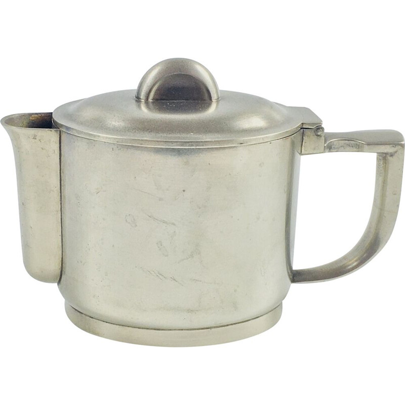 Vintage Silver Plated Berndorf Coffeepot Art Deco 1930s