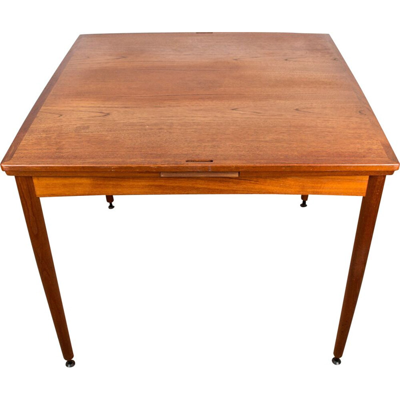 Vintage teak table for cards by Poul Hundevad Denmark 1958s
