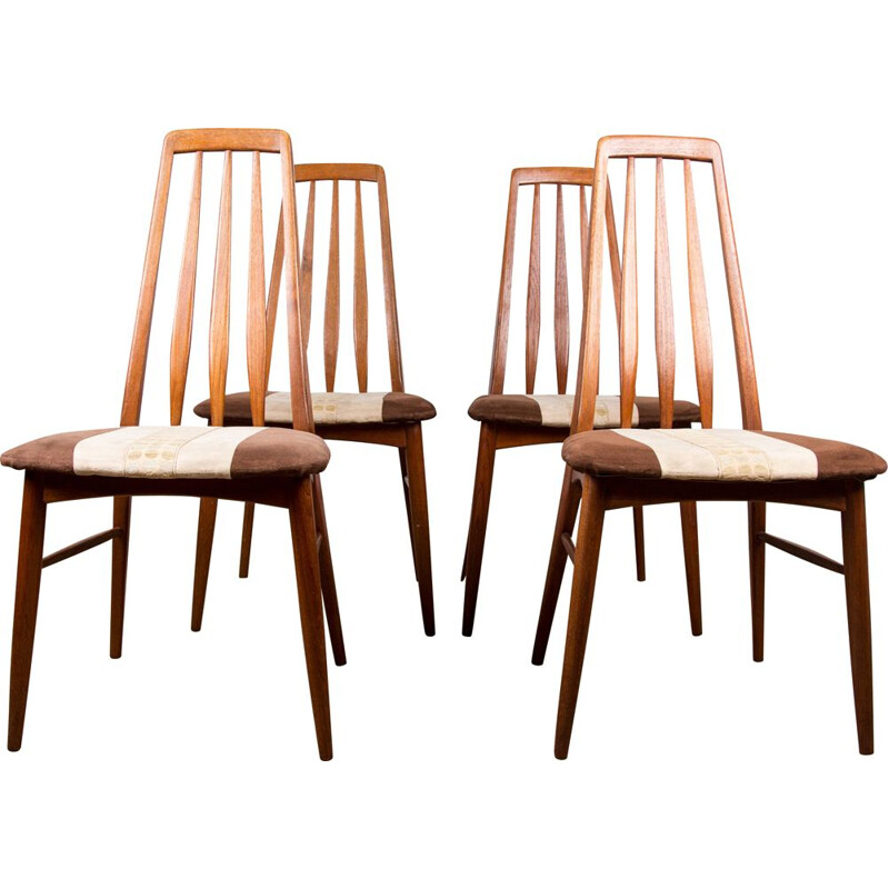 Set of 4 vintage teak chairs by Niels Koefoed 1960s