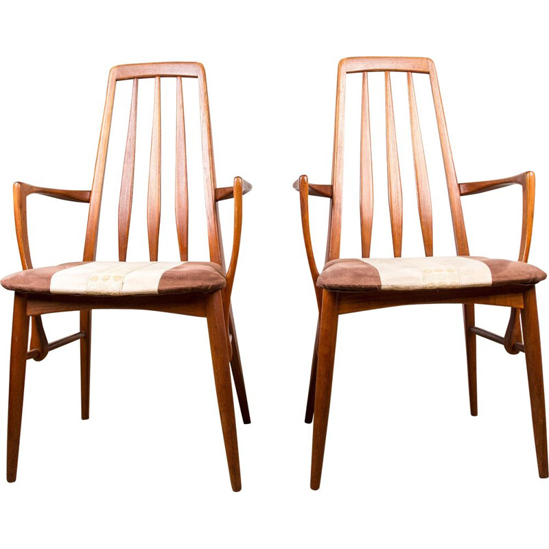 Pair of vintage teak armchairs by Niels Koefoed Danish 1960s