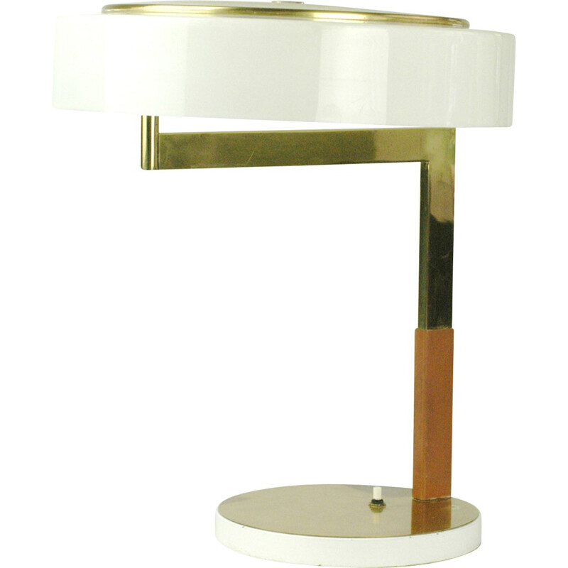 Austrian table lamp in brass and acrylic, J. T KALMAR - 1960s