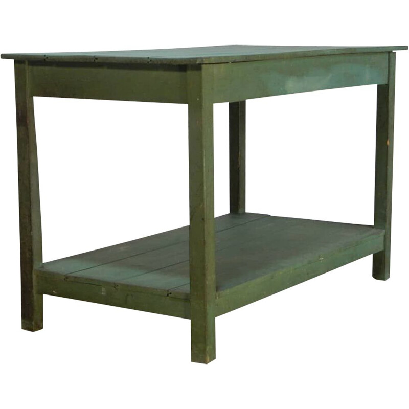 Vintage table painted green v0275 1970