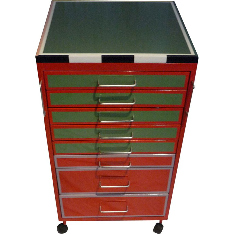 Vintage dentist's cabinet with drawers
