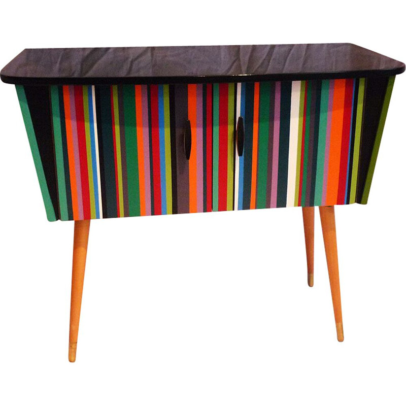 Small vintage multicolored furniture