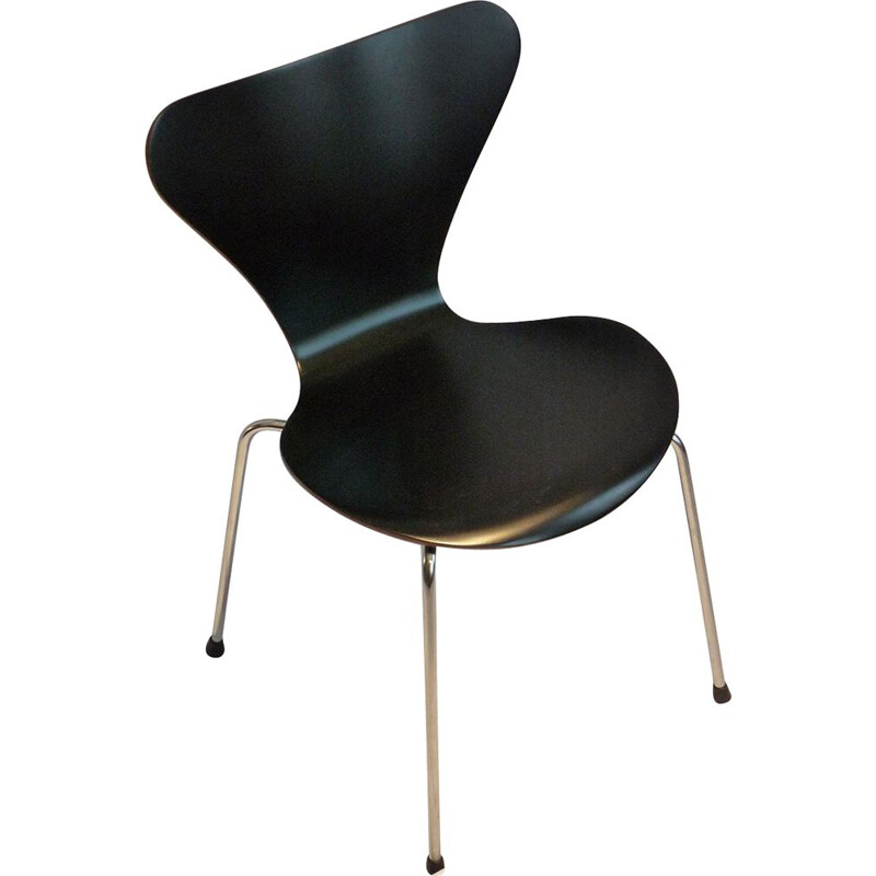 Vintage black 3107 Arne Jacobsen chair