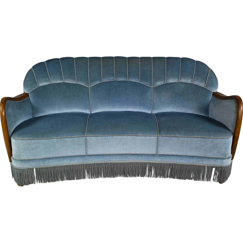 VIntage Art Deco Banana Sofa Danish 1950s