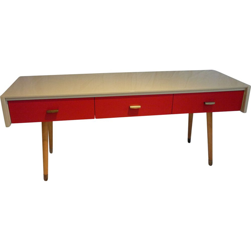 Vintage low console 3 drawers
