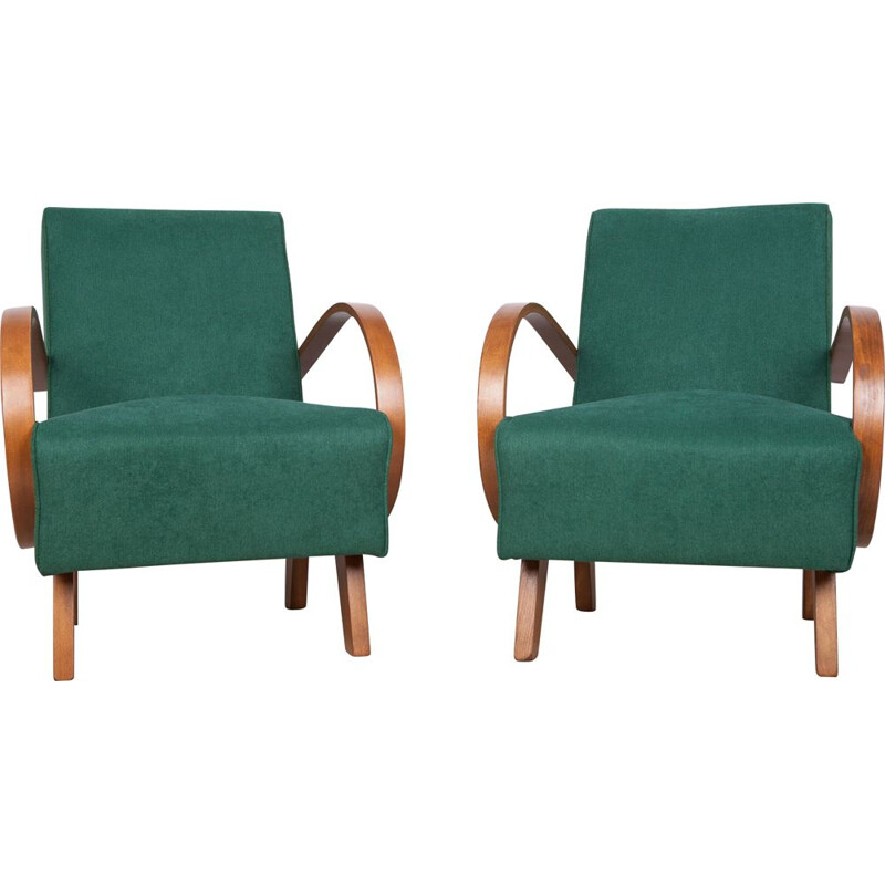 Pair of vintage Armchairs by Jindřich Halabala for UP Závody 1950s
