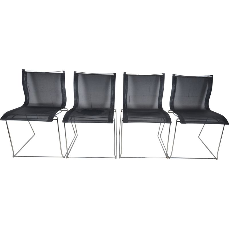 Lot of 4 vintage chairs Fermob Pascal Mourgue