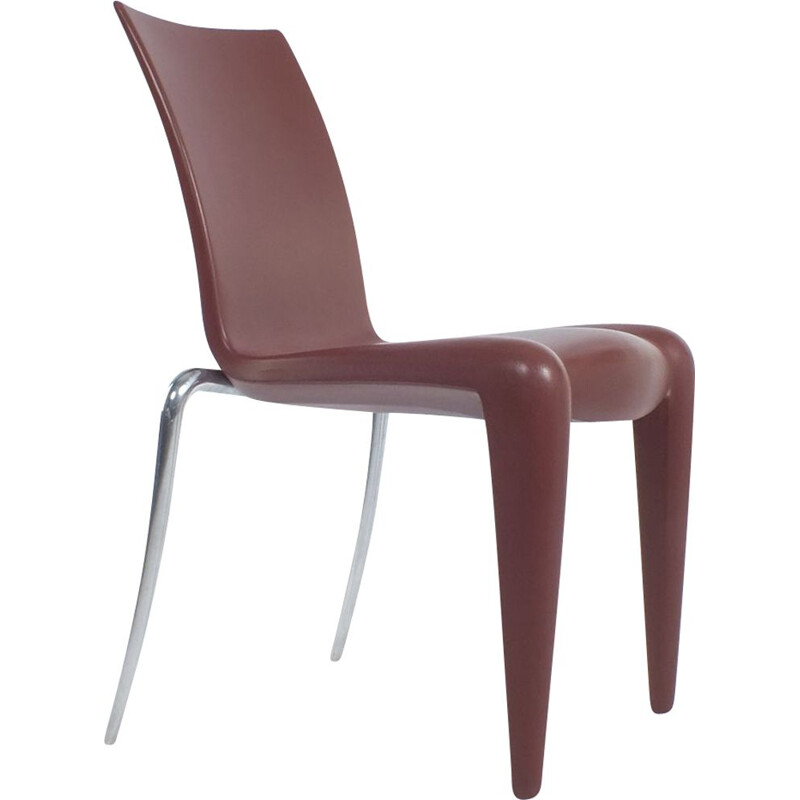 Vintage Brick red Louis dining chairs 1991s