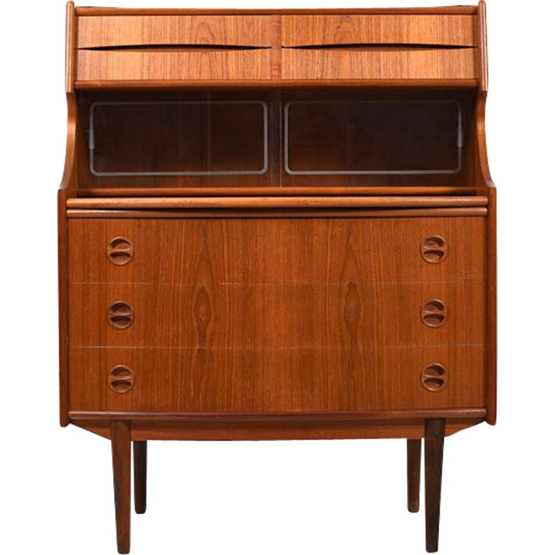 Mid-Century Teak Secretary with curved Front Danish