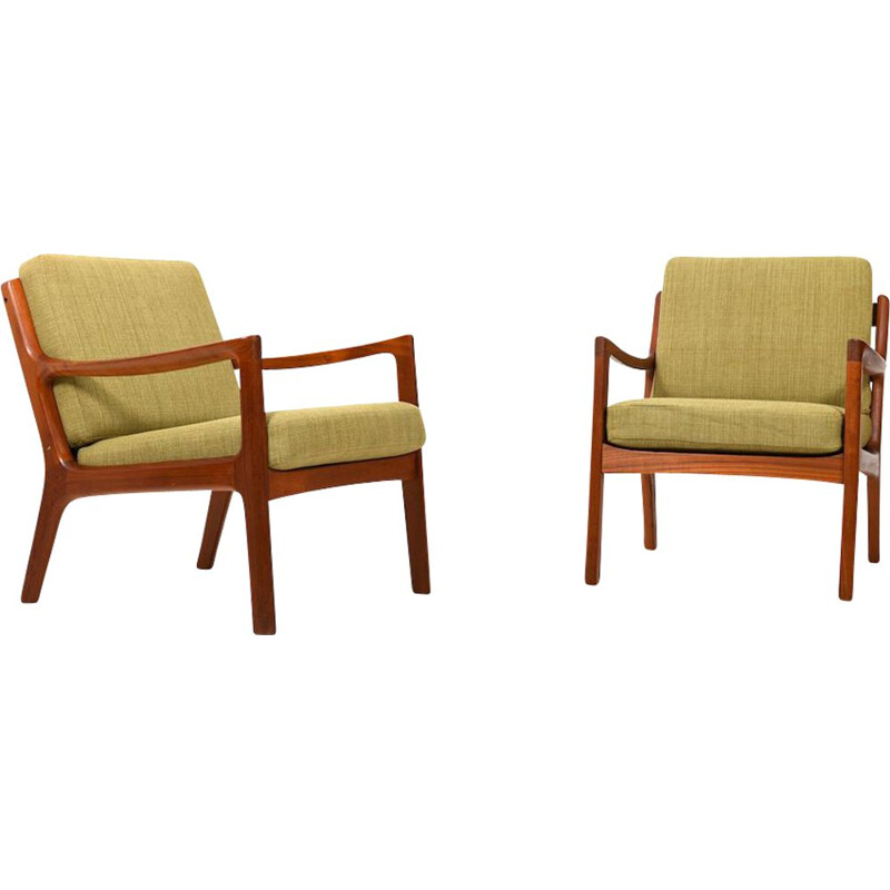 Pair of vintage Senator Teak Easychairs by Ole Wanscher