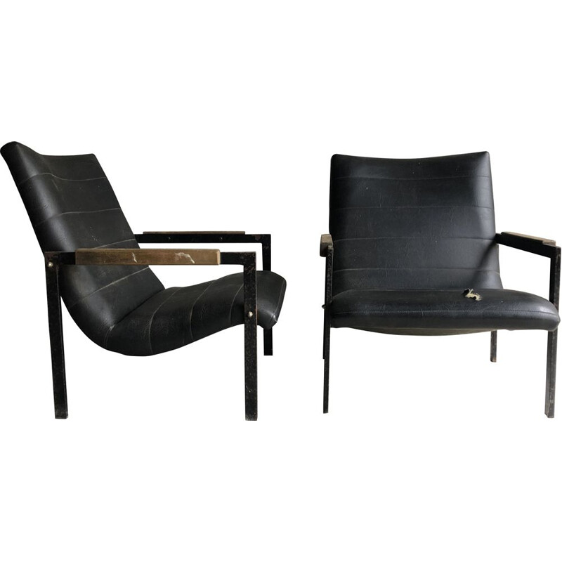 Pair of vintage Las Vegas Armchairs by Pierre Guariche