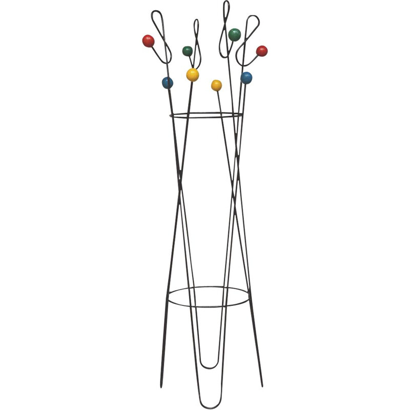 Vintage coat rack by Roger Feraud 1950s