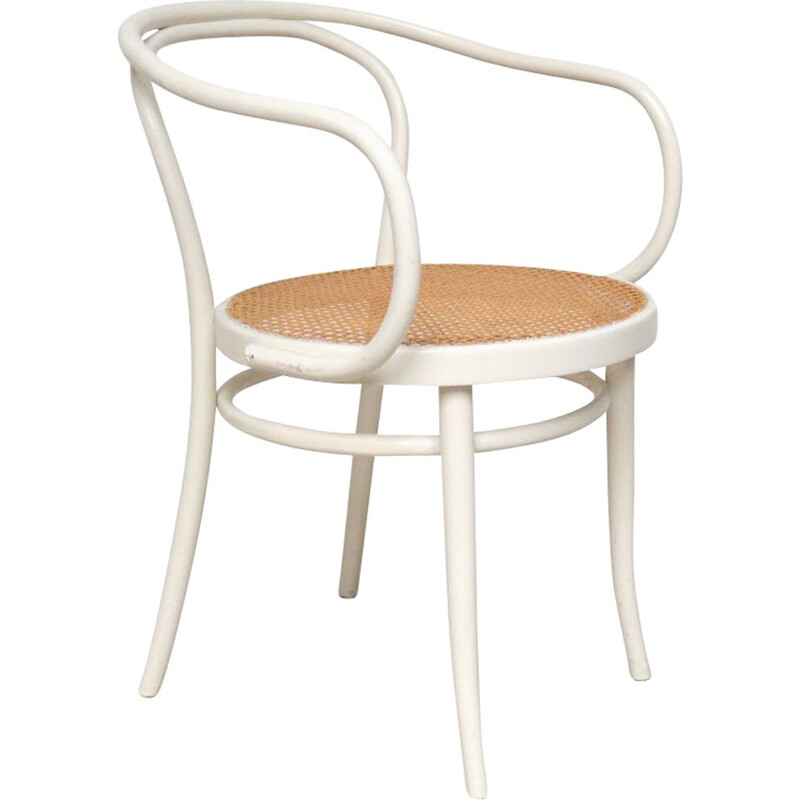 Vintage Thonet White Chair 1960s