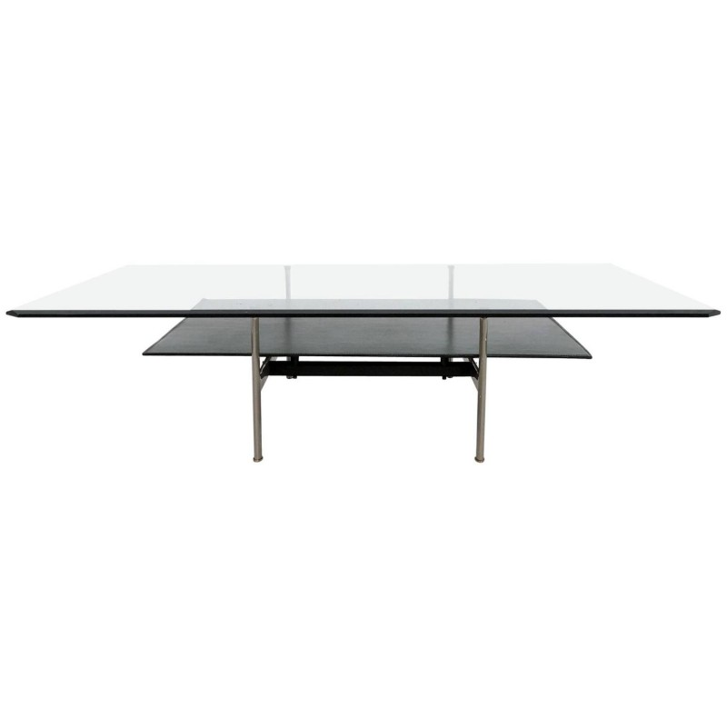 B Italia Sis Coffee Table In Gl And Leather A