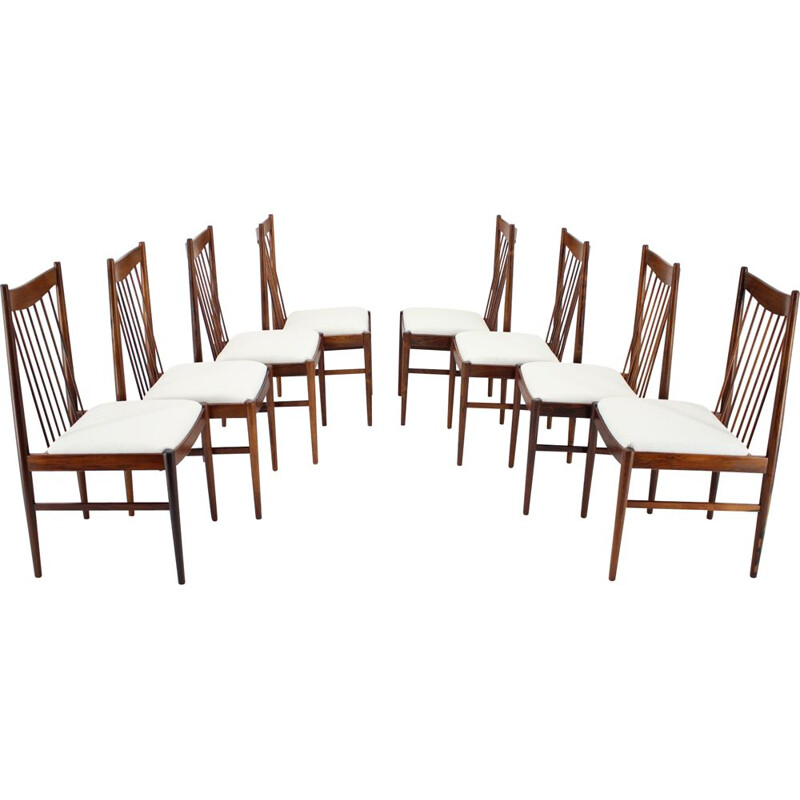 Set of 8 vintage Arne Vodder Palisander Dining Chairs Denmark 1960s
