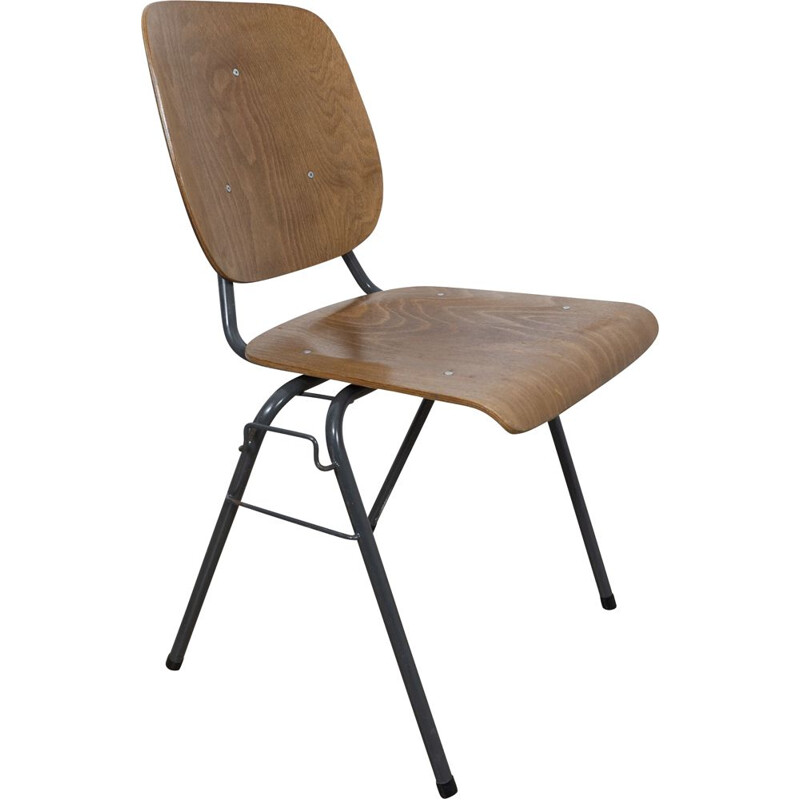 Vintage Stackable industrial chair by Kho Liang Ie