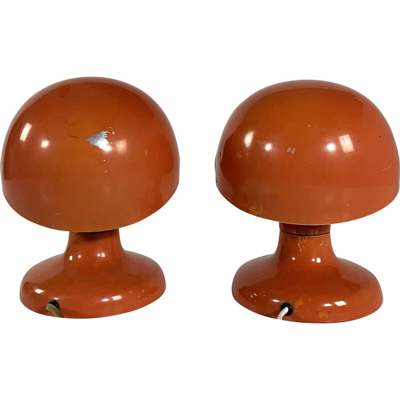 Pair of vintage Coral Jucker Table Lamps by Tobia & Afra Scarpa
