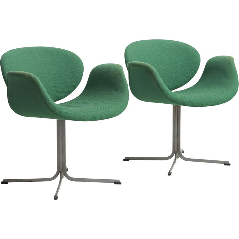 "Pair of vintage ""Little Tulip"" chairs by Pierre Paulin for Artifort Netherlands 1960s"