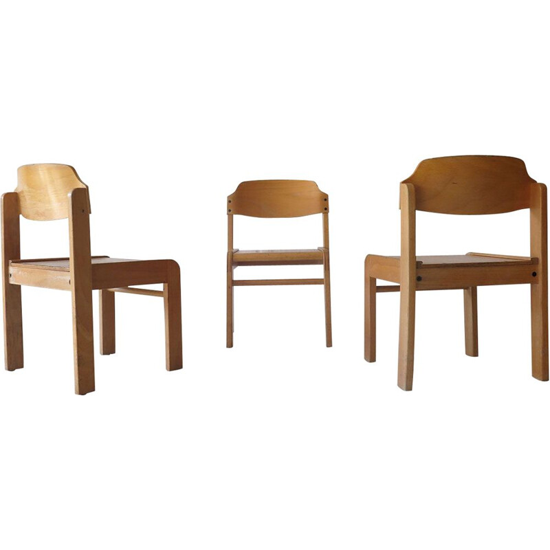 Set of 3 Vintage stackable kids chairs