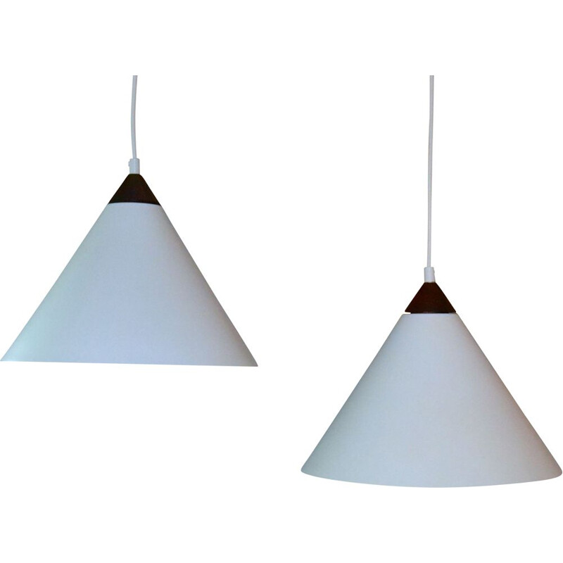 Set of vintage Pendants by Uno & Östen Kristiansson for Luxus 1965s